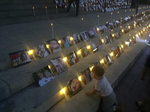 Child at Memorials